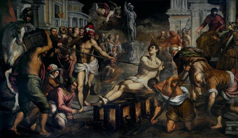 The Martyrdom of Saint Lawrence. Palma il Giovane (Jacopo Negretti)