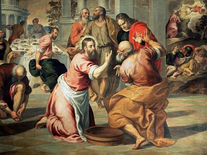 The Washing of the Feet. Palma il Giovane (Jacopo Negretti)