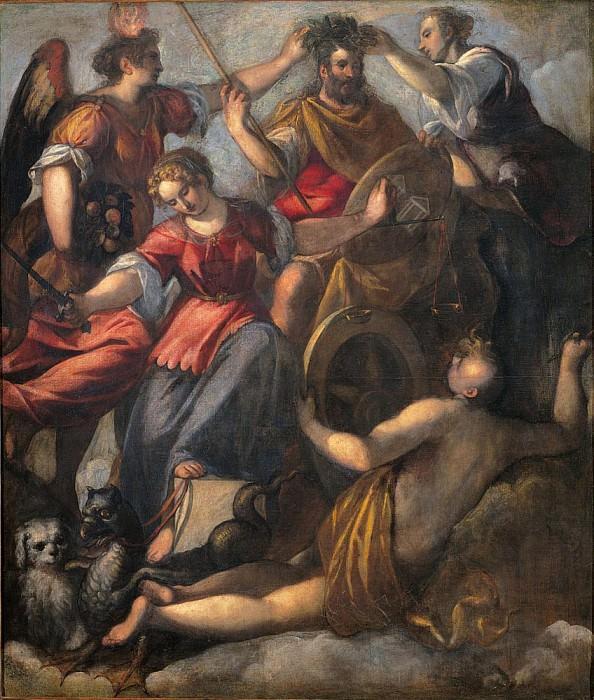 Triumph of Mars (Trionfo di Marte). Palma il Giovane (Jacopo Negretti)