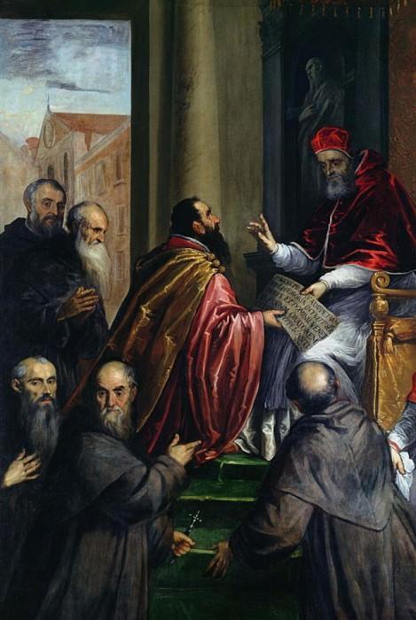 Папа Павел IV, передача Статута. Джакомо Пальма Младший (Якопо Негретти)