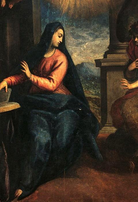 Annunciation (Annunciazione). Palma il Giovane (Jacopo Negretti)