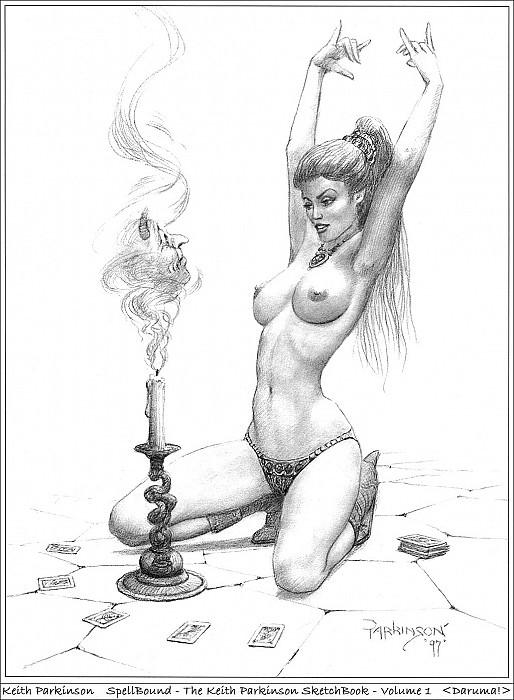 34 Daruma! Keith Parkinson SpellBound SketchBook Vol 1. Keith Parkinson