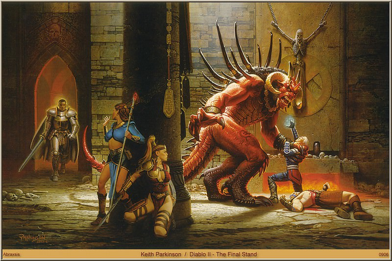 Diablo II - The Final Stand (Abraxsis). Keith Parkinson
