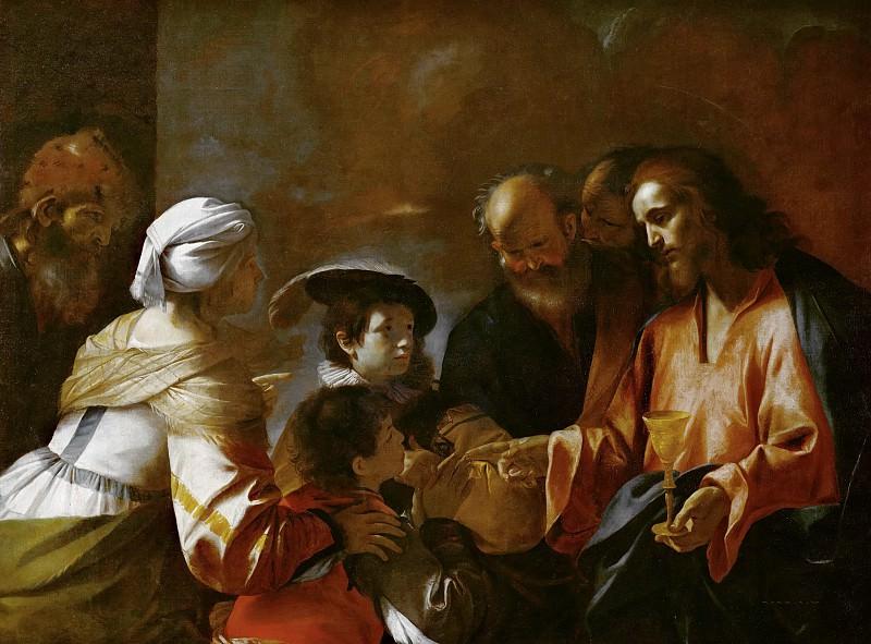 Christ blessing the little Children. Mattia Preti