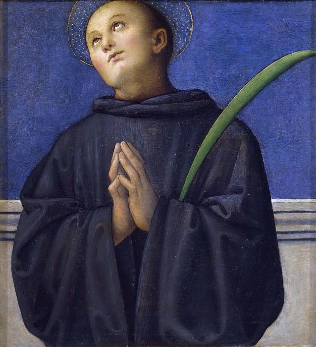 Полиптих из Сан-Пьетро в Перудже, пределла - Святой Плакида. Пьетро Перуджино