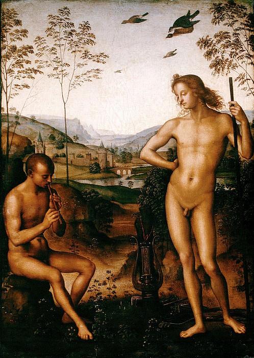 Аполлон и Марсий, ок.1495. Пьетро Перуджино