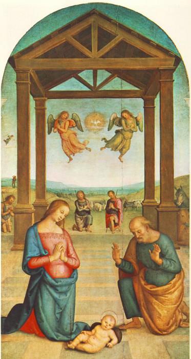St Augustin Polyptych The Presepio 1506 10. Pietro Perugino