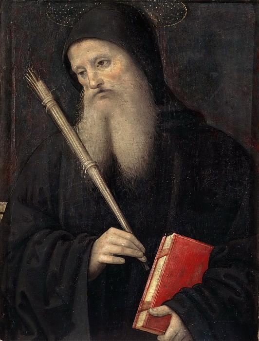 Polyptych for S. Pietro in Perugia, predella - Saint Benedict. Pietro Perugino