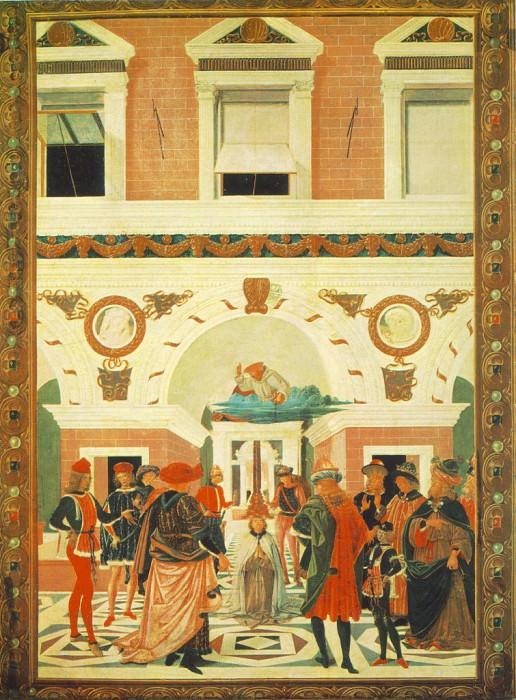 The Miracles of San Bernardino The Healing of a Mute 1473. Pietro Perugino