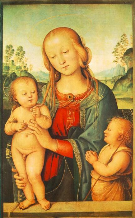 Мадонна с Младенцем и маленьким Св. Иоанном, 1505-10. Пьетро Перуджино