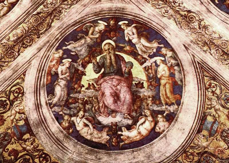 God the Creator and Angels 1507 8. Pietro Perugino