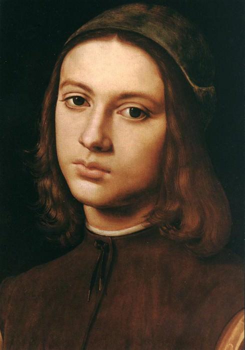 Портрет юноши (фрагмент), 1495. Пьетро Перуджино