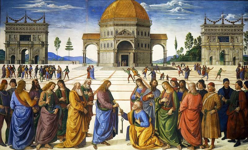Вручение ключей апостолу Петру. Пьетро Перуджино