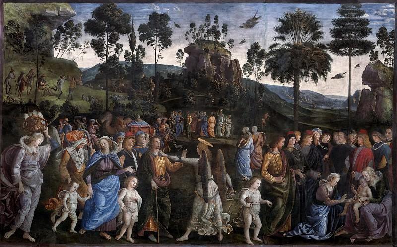 Обрезание сына Моисея Елиазара. Пьетро Перуджино