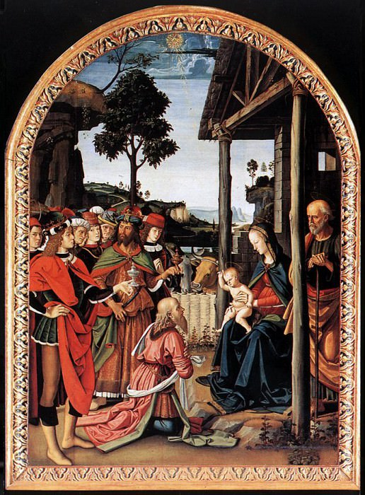 Adoration of the Kings (Epiphany) c1476. Pietro Perugino