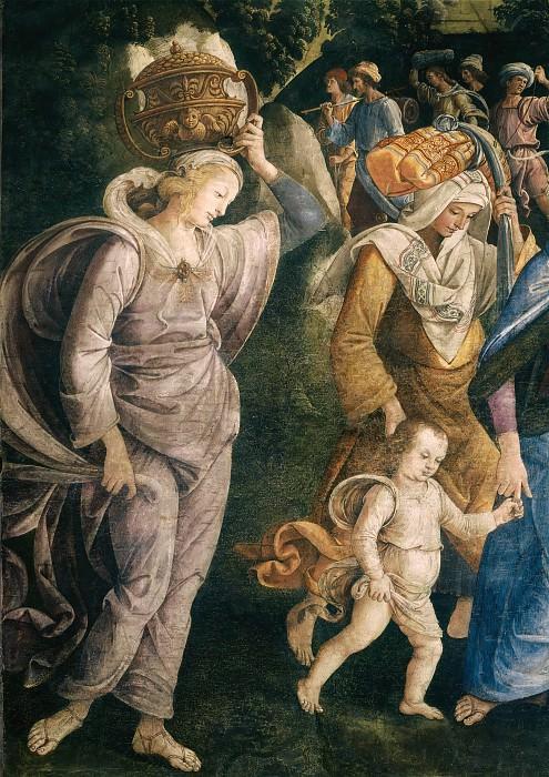 Обрезание сына Моисея Елиазара (фрагмент). Пьетро Перуджино