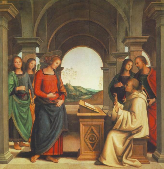 The vision of St Bernard, 1493, 173x170 cm, Alte Pi. Pietro Perugino