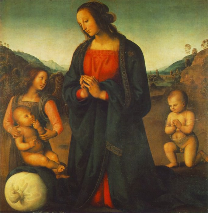 Madonna, an Angel and Little St John Adoring the Ch. Pietro Perugino