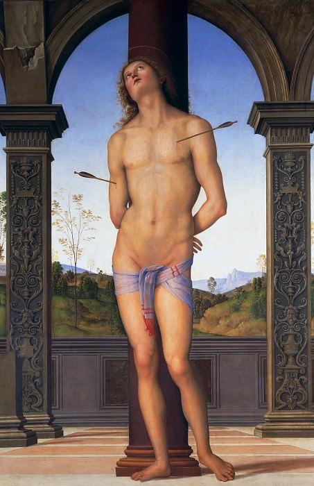 St Sebastian. Pietro Perugino