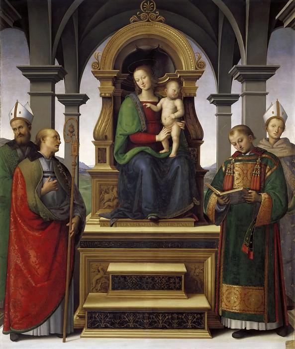 Altarpiece of the Decemviri. Pietro Perugino