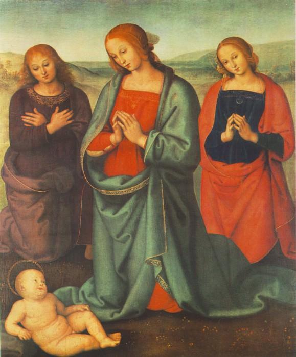 Мадонна и Святые жены, поклоняющиеся Младенцу, 1503. Пьетро Перуджино