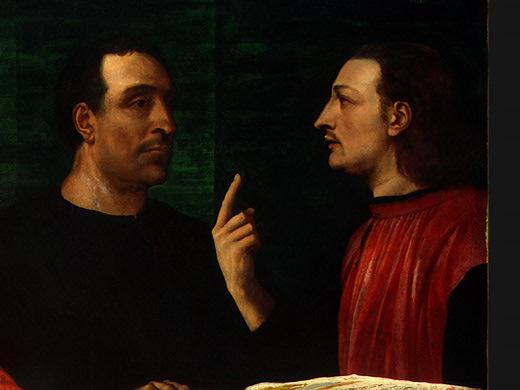 CARDINAL BANDINELLO SAULI, HIS SECRETARY, AND T(2. Sebastiano del Piombo