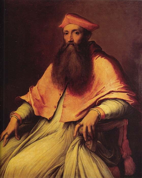 Portrait of Cardinal Reginald Pole. Sebastiano del Piombo