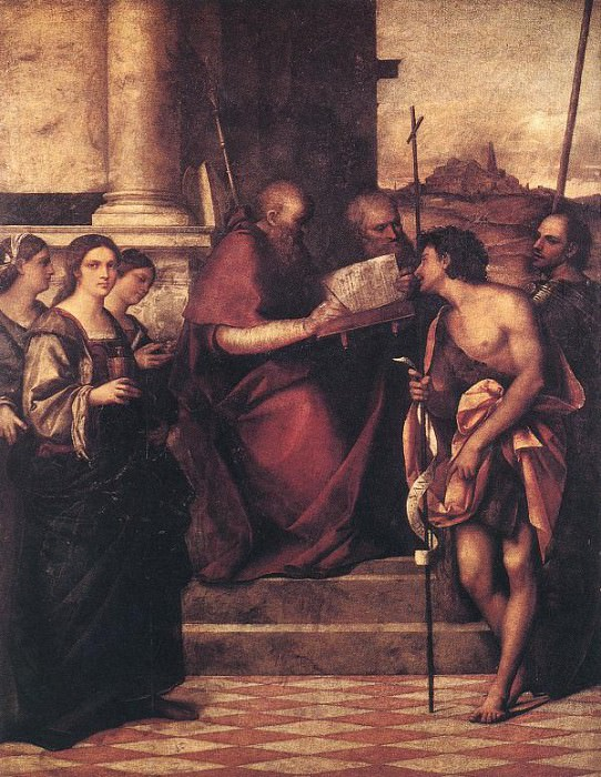 San Giovanni Crisostomo and Saints. Sebastiano del Piombo