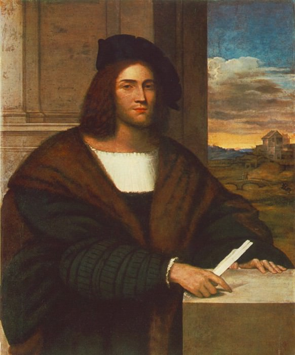 Portrait of a man, ca 1515, 115x94 cm,. Sebastiano del Piombo