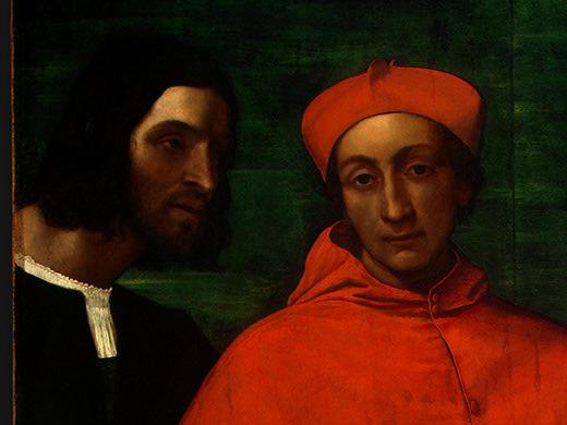 CARDINAL BANDINELLO SAULI, HIS SECRETARY, AND T(1. Sebastiano del Piombo
