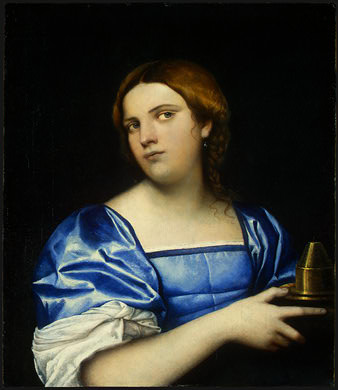 PORTRAIT OF A YOUNG WOMAN AS A WISE VIRGIN, C.. Sebastiano del Piombo