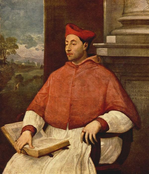 Portrait of Antonio Cardinal Pallavici. Sebastiano del Piombo