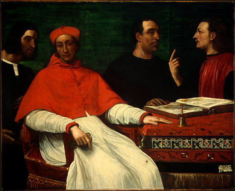 CARDINAL BANDINELLO SAULI, HIS SECRETARY, AND TWO. Sebastiano del Piombo