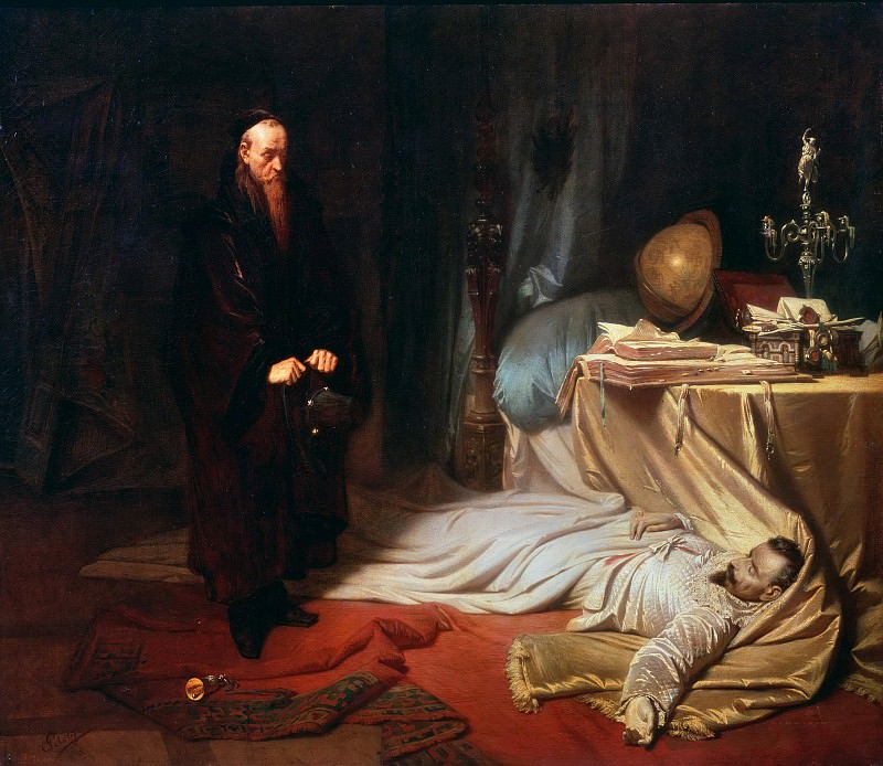 Seni by the Corpse of Wallenstein. Karl Theodor von Piloty