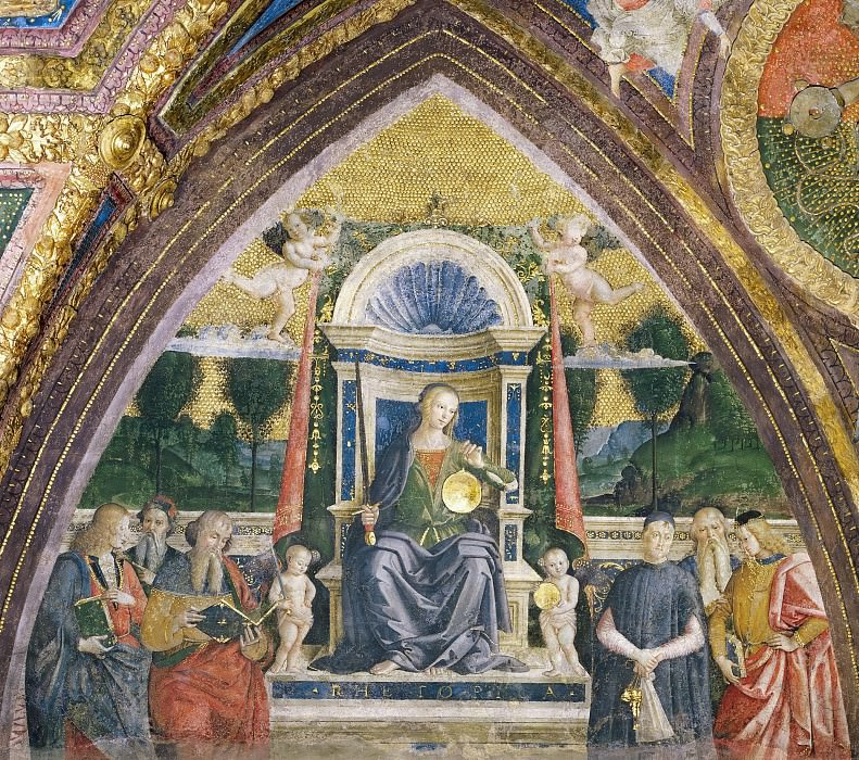 Rhetoric. Pinturicchio (Bernardino di Betto)