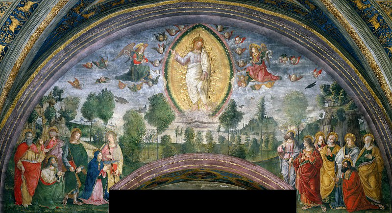 The Ascension. Pinturicchio (Bernardino di Betto)