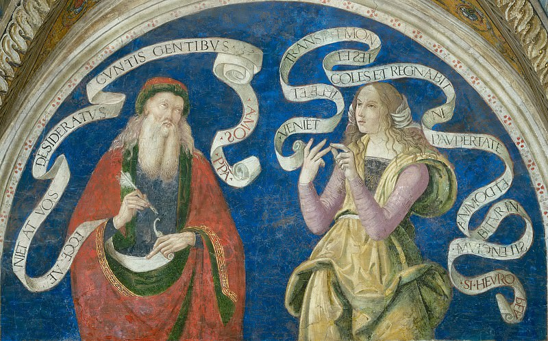 Prophet Amos and the European Sibyl. Pinturicchio (Bernardino di Betto)