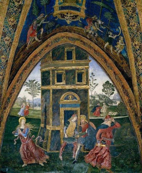 Saint Barbara Escaping from the Tower. Pinturicchio (Bernardino di Betto)