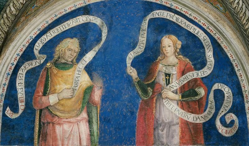 The Prophet Ezekiel and the Cimmerian Sibyl. Pinturicchio (Bernardino di Betto)
