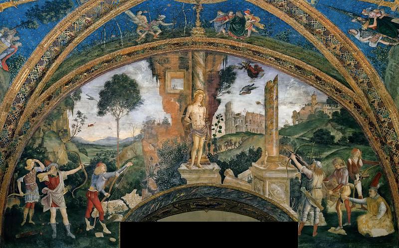 Martyrdom of Saint Sebastian. Pinturicchio (Bernardino di Betto)