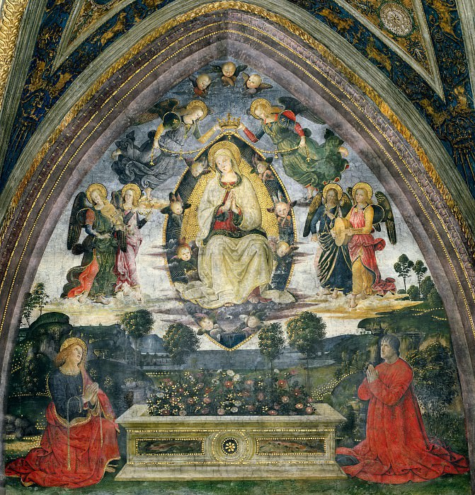 The Assumption of the Virgin. Pinturicchio (Bernardino di Betto)
