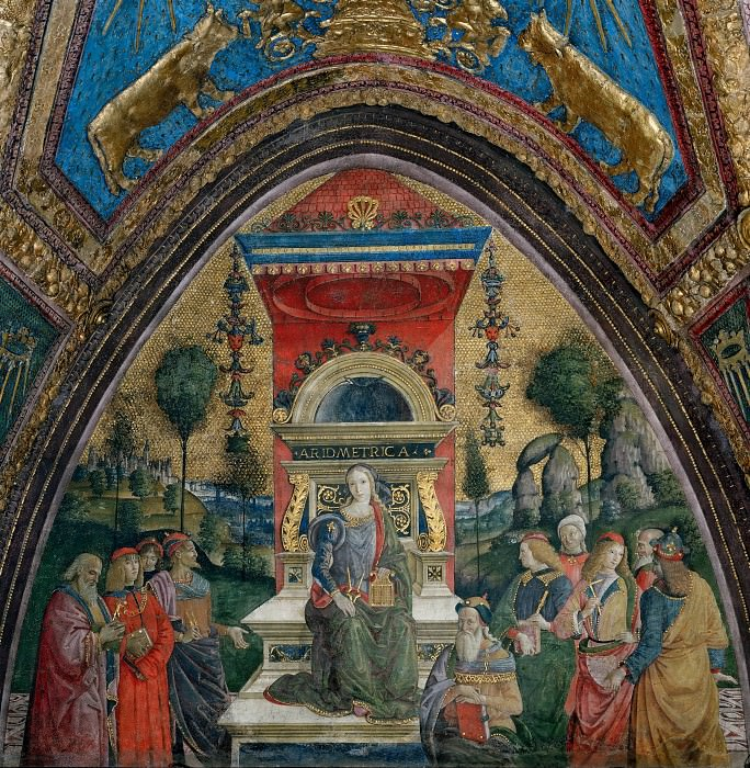 Arithmetic. Pinturicchio (Bernardino di Betto)