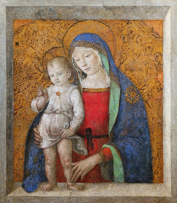 The Madonna of the Windowsill. Pinturicchio (Bernardino di Betto)
