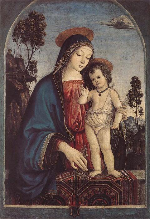 La Vergine e il bambino 1475. Pinturicchio (Bernardino di Betto)
