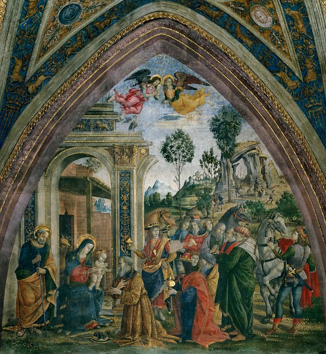 The Adoration of the Magi. Pinturicchio (Bernardino di Betto)