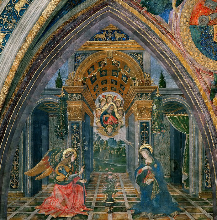The Annunciation. Pinturicchio (Bernardino di Betto)