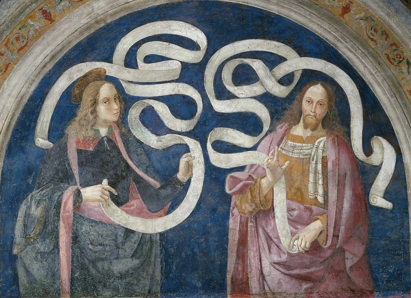 Thaddeus (Jude) and Zechariah. Pinturicchio (Bernardino di Betto)