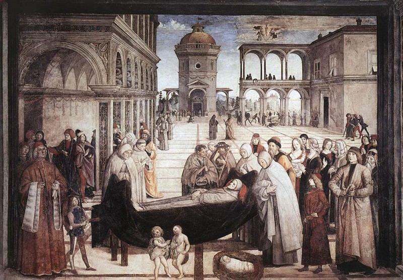 Death Of St Bernadine. Pinturicchio (Bernardino di Betto)