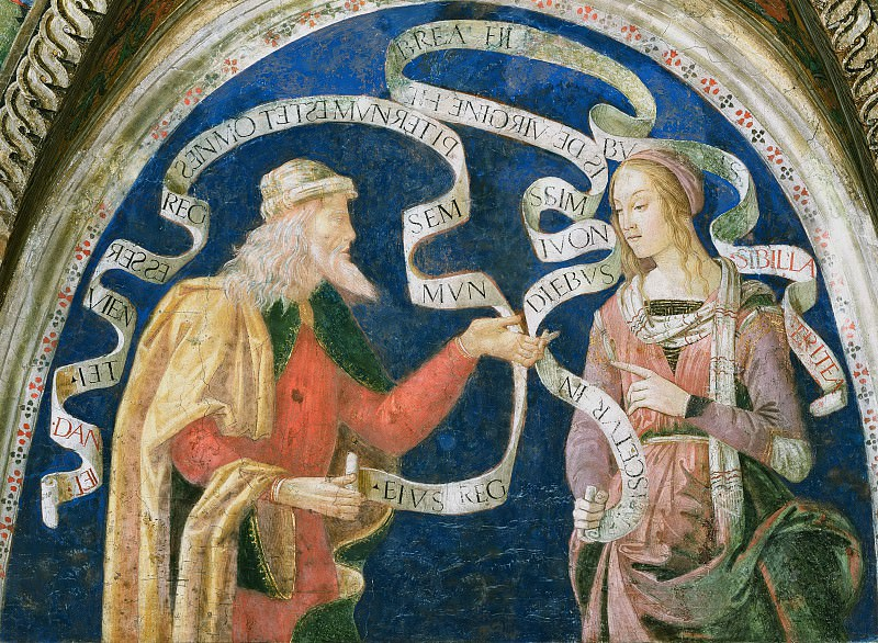 Prophet Daniel and the Erythraean Sibyl. Pinturicchio (Bernardino di Betto)