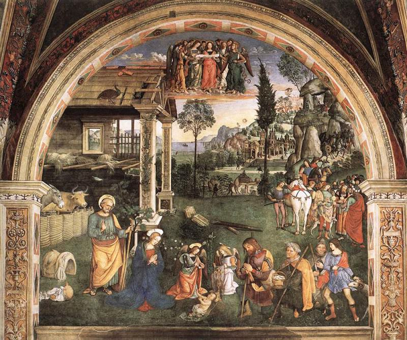 Adoration Of The Child. Pinturicchio (Bernardino di Betto)